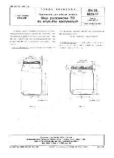 Opakowania jednostkowe szklane - Słoje podstawowe TO do artykułów spożywczych BN-86/6833-17