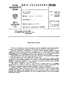 Uchwyt samocentrujący : opis patentowy nr 101134