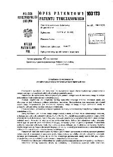 Urządzenie do wytwarzania charakterystycznego promieniowania rentgenowskiego : opis patentowy patentu tymczasowego nr 103173