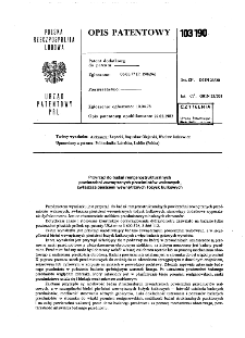 Przyrząd do badań rentgenostrukturalnych powierzchni zewnętrznych przedmiotów walcowych, zwłaszcza pierścieni wewnętrznych łożysk kulkowych : opis patentowy nr 103190