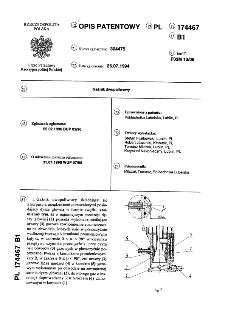 Gaźnik dwu paliwowy : opis patentowy nr 174467