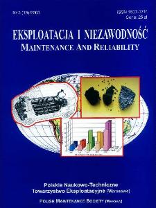 Eksploatacja i Niezawodność = Maintenance and Reliability Nr 3 (19)2003