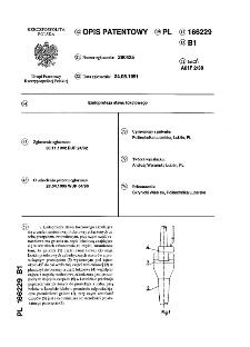 Endoproteza stawu łokciowego : opis patentowy nr 166229
