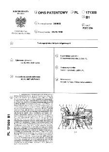 Turbosprężarka z łożyskami gazowymi : opis patentowy nr 171309