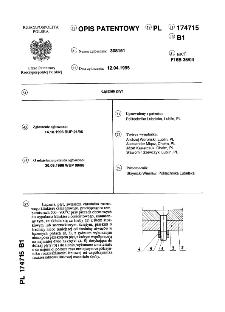 Łącznik płyt : opis patentowy nr 174715