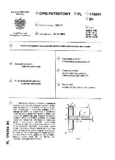 Sposób i urządzenie do napawania warstw o zmiennym składzie chemicznym : opis patentowy nr 176204