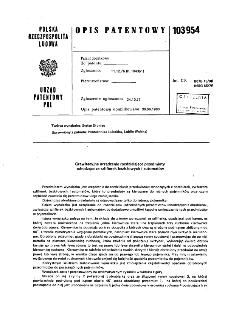 Grawitacyjne urządzenie rozdzielające przedmioty schodzące ze szlifierek bezkłowych i automatów : opis patentowy nr 103954