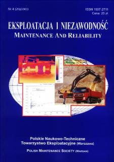 Eksploatacja i Niezawodność = Maintenance and Reliability Nr 4 (20)2003