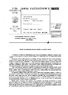 Sposób optymalizacji własności mechanicznych laminatów : opis patentowy nr 106038