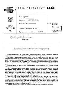 Sposób i urządzenie do regulacji temperatury tarcia pary ciernej : opis patentowy nr 106128