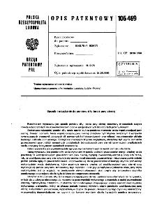 Sposób i urządzenie do pomiaru siły tarcia pary ciernej : opis patentowy nr 106469