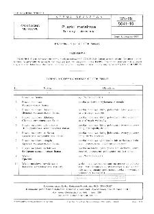 Puszki metalowe - Terminy i określenia BN-88/5041-15