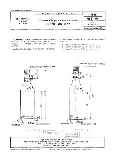 Opakowania jednostkowe szklane - Butelki do wina BN-89/6831-05