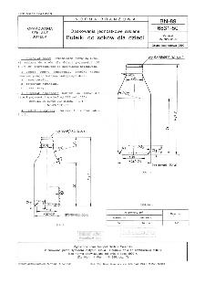 Opakowania jednostkowe szklane - Butelki do soków dla dzieci BN-89/6831-50