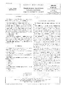 Opakowania częściowe - Wytyczne stosowania - Wspólne wymagania i badania BN-89/7160-01