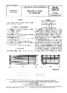 Skrzynki z drutu do pieczywa BN-90/5045-06