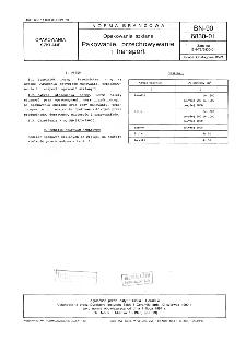 Opakowania szklane - Pakowanie, przechowywanie i transport BN-90/6830-01