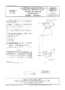 Opakowania jednostkowe szklane - Butelki do płynów spożywczych - Kształt i wymiary BN-90/6831-32