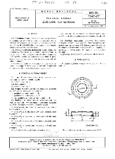 Zamknięcia metalowe - Zakrywki kontaktowe BN-90/5048-07