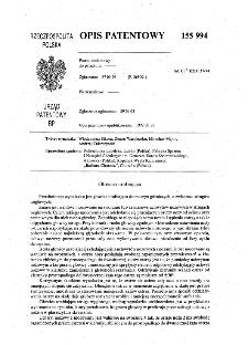 Głowica urabiająca : opis patentowy nr 155994