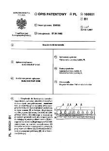 Urządzenie do hartowania : opis patentowy nr 166631