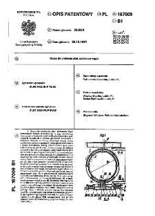 Organ do urabiania skał, zwłsszcza węgla : opis patentowy nr 167009