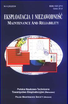 Eksploatacja i Niezawodność = Maintenance and Reliability Nr 4 (24)2004