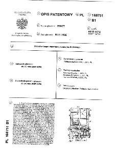 Zespół młócąco-separujący kombajnu zbożowego : opis patentowy nr 168751