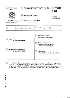 Stal żaroodporna o podwyższonej odporności na zmęczenie cieplne : opis patentowy nr 173218