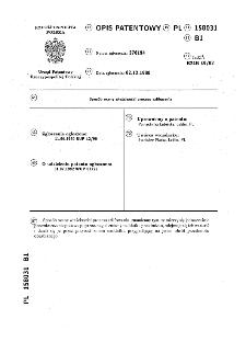 Sposób oceny właściwości procesu szlifowania : opis patentowy nr 158031