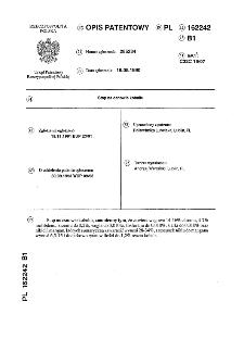 Stop na osnowie kobaltu : opis patentowy nr 162242