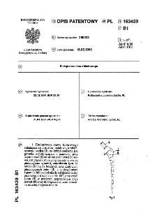 Endoproteza stawu biodrowego : opis patentowy nr 163439