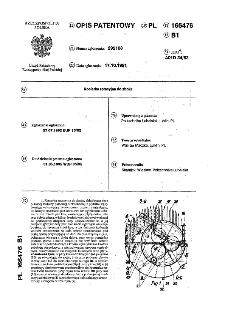 Kosiarka rotacyjna do zboża : opis patentowy nr 166476