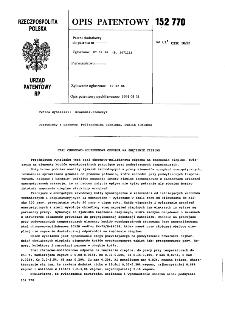 Stal chromowo-molibdenowa odporna na zmęczenie cieplne 152770 : opis patentowy nr 152770