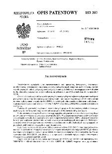 Stal żarowy trzymała : opis patentowy nr 153307