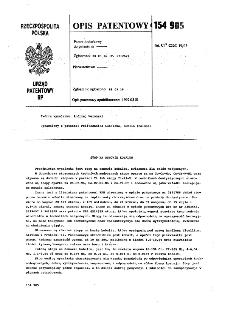Stop na osnowie kobaltu : opis patentowy nr 154905