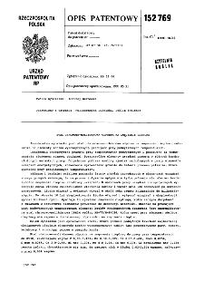 Stal chromowo-molibdenowa odporna na zmęczenie cieplne : opis patentowy nr 152769
