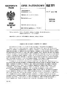 Urządzenie do zespalania złamanych kości kończyn : opis patentowy nr 152771
