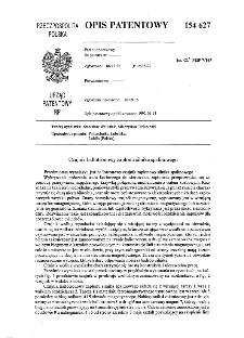 Czujnik hallotronowy zapłonu silnika spalinowego : opis patentowy nr 154627