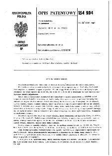 Stop na osnowie kobaltu : opis patentowy nr 154904