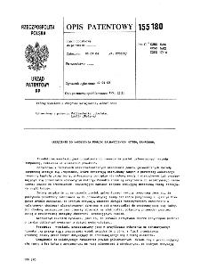 Urządzenie do nanoszenia powłok galwanicznych metodą tamponową : opis patentowy nr 155180