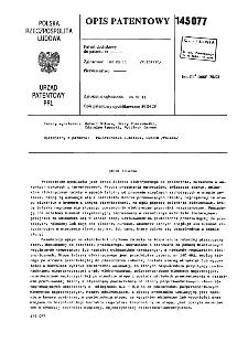 Stopa żelazka : opis patentowy nr 145077