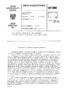 Płytka grzejna do kuchenek i kuchni elektrycznych : opis patentowy nr 147890