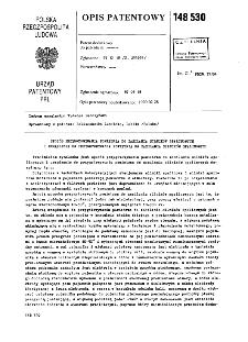 Sposób przygotowania powietrza do zasilania silników spalinowych i urządzenie do przygotowania powietrza do zasilania silników spalinowych : opis patentowy nr 148530
