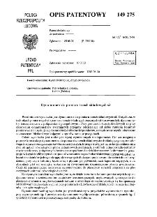 Dynamometr do pomiaru trzech składowych sił : opis patentowy nr 149275