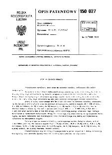Stop na osnowie kobaltu : opis patentowy nr 150027