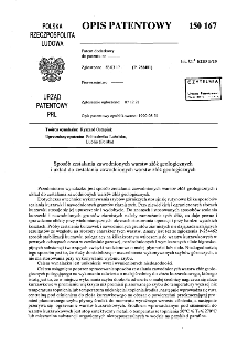 Sposób zestalania zawodnionych warstw złóż geologicznych i układ do zestalania zawodnionych warstw złóż geologicznych : opis patentowy nr 150167