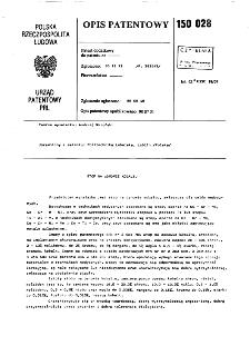 Stop na osnowie kobaltu : opis patentowy nr 150028