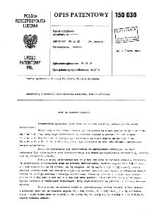 Stop na osnowie kobaltu : opis patentowy nr 150030