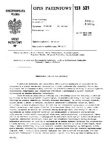 Podgrzewacz butelek dla niemowląt : opis patentowy nr 151521